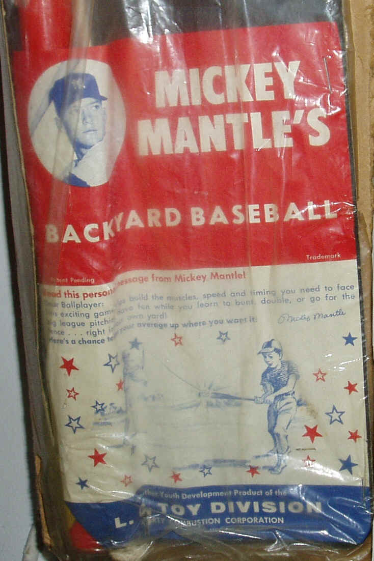 vintage memorabilia mickey mantle back yard baseball