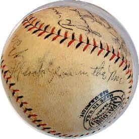 310dad25979 Babe Ruth Lou Gehrig Signed Baseball