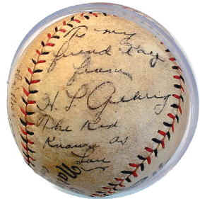 6abbcc8349b Lou Gehrig Autographed Baseball with inscription