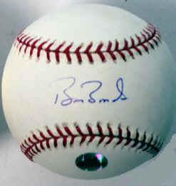 Barry Bonds Autograph Sample Price Guide