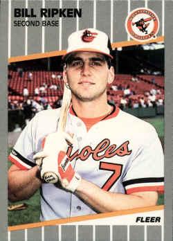 1989 Fleer baseball Card 616Bill Ripken Rick Face