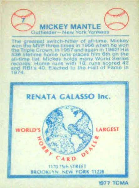 1977 1984 Renata Galasso Glossy Greats Checklist