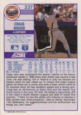 1989 Score Baseball Cards