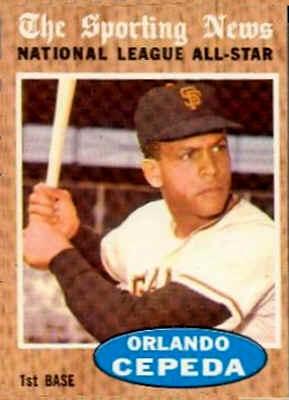 1962 Topps Orlando Cepeda NL All Star