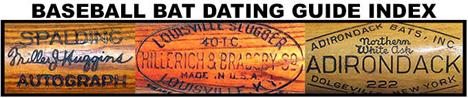baseball Bat Dating Guide Index