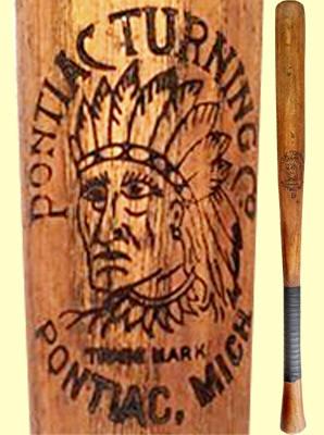 Indian Headdress Logo Baseball Bat