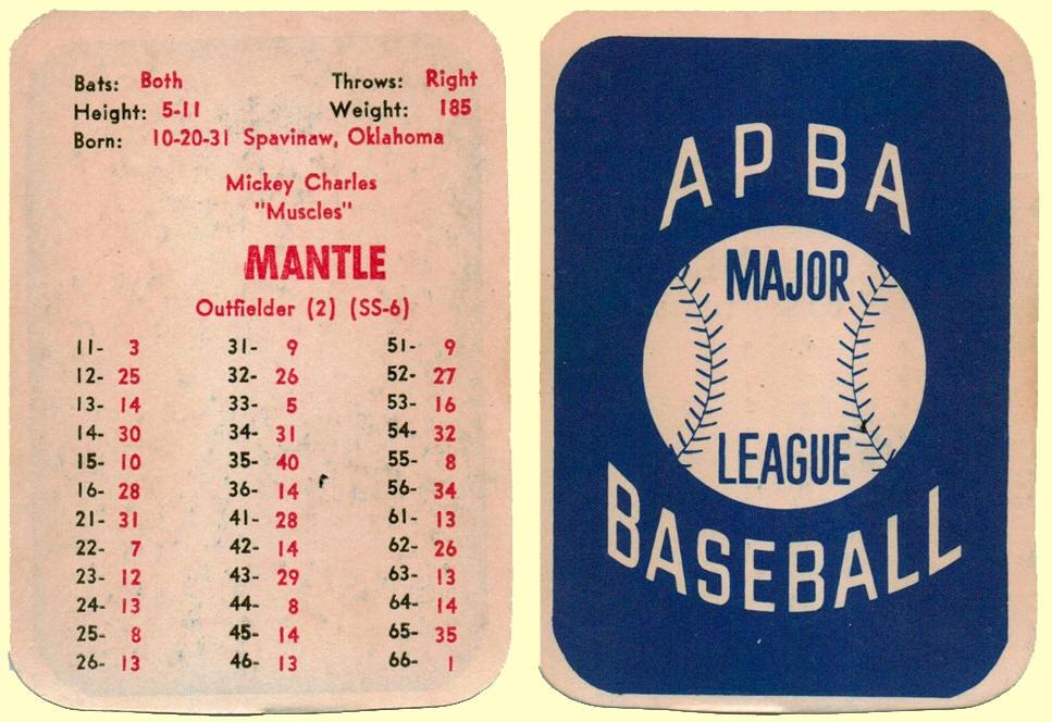 Apba Basenall Cards