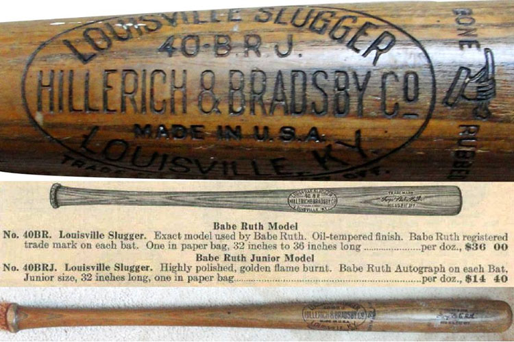 In General A Ruth Model Baseball Bat Has An Estimated Value Of About 400 500 Excellent Near Mint Condition For Each Grade Lower The