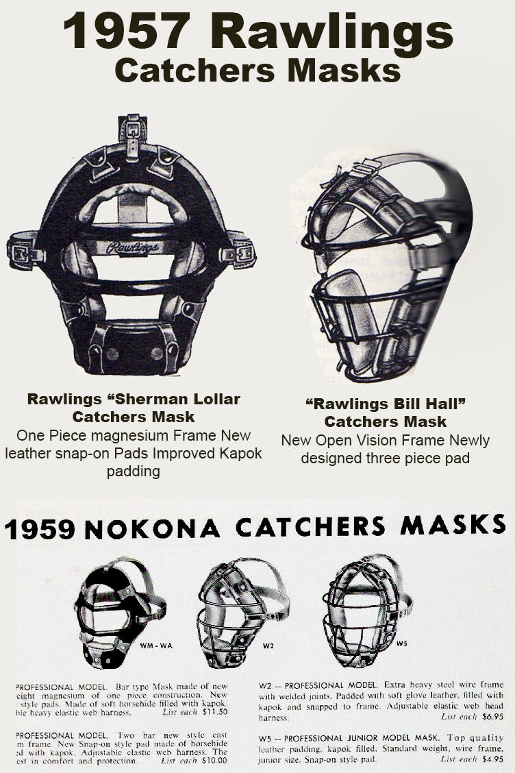1950-1959 Catchers Mask Dating Guide