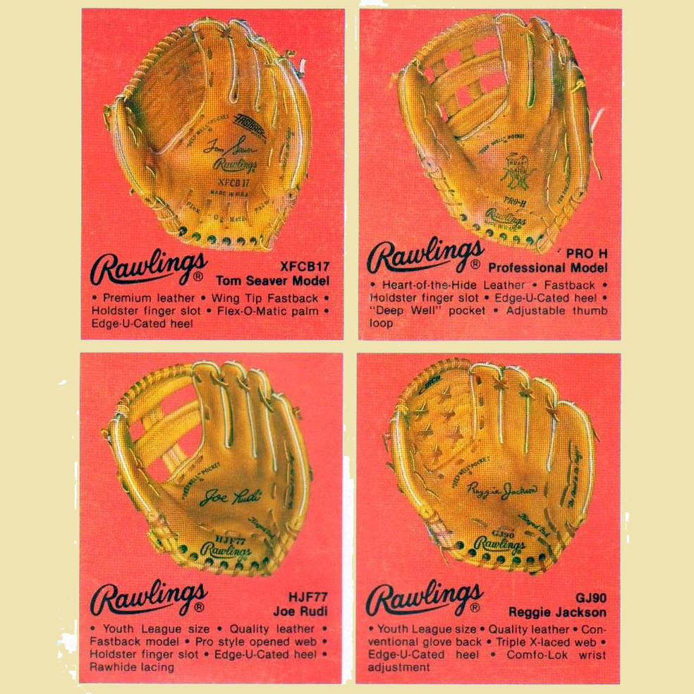 Baseball Glove Dating Guide 1970-1979
