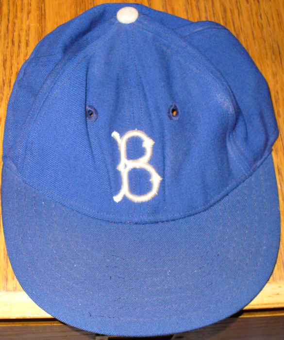 Brooklyn Dodgers Professional Model Hat circa 1956 776223295af