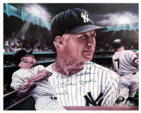 I screwed up Mickey Mantle autographed photo.