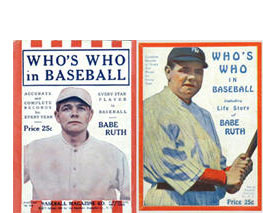 1920-1921 Who's How in Baseball Babe Ruth covers