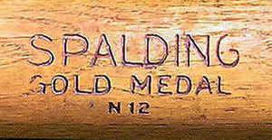 Spalding 1912-1918 Gold Medal Bats manufacturing Period