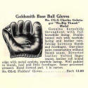 1940 Goldsmith CG Seamless Thumb Fielder's Glove