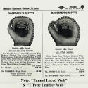 1942 Diamond Brand Baseman's Mitts
