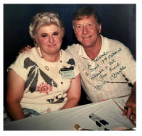 Promoter Wanda Marcus and Mickey Mantle