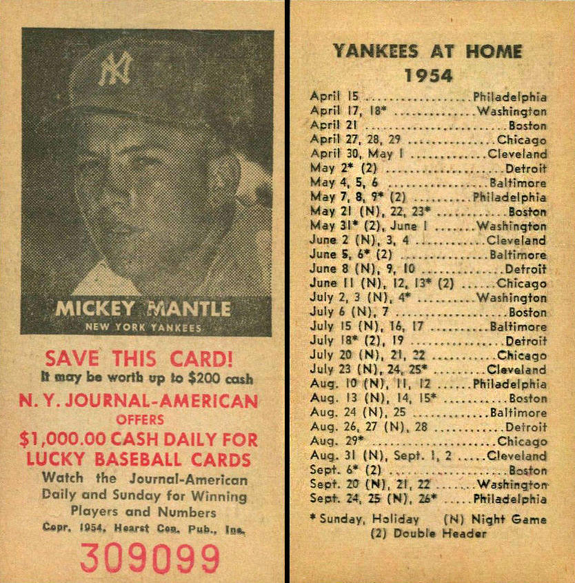 1969 Yankees Grandstand Ticket Stub