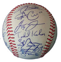 Team signed baseball