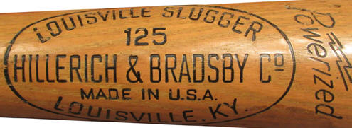 what does the 125 stand for on a Louisville Slugger Baseball Bat