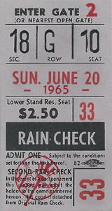 First Yankees Bat Day Ticket Stub