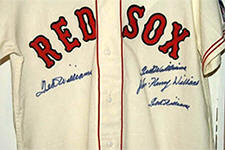 Ted Williams Red Sox Jersey signed 4 times