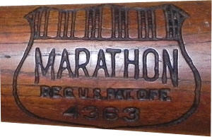 1930s Marathon Brand Baseball Bat center brand
