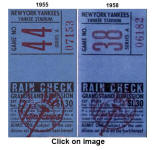 Comparison of 1955 & 1958 Grandstand Stubs