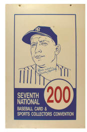 Mickey Mantle Signed 7th National Aisle Marker
