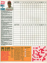 1987 Budweiser Play-off - World Series scorecard