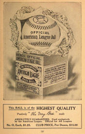 1908 Reach American League Baseball ad
