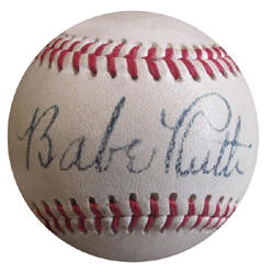 Babe Ruth Rplica Reproduction Novelty Baseball
