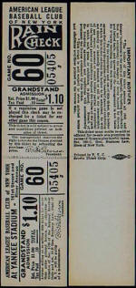 1941 Yankees Full Grandstand Ticket