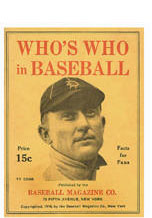 1916 Edition of Who's Who in Baseball Ty Cobb Cover