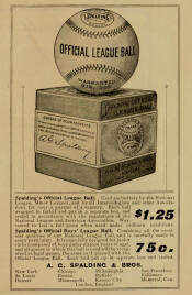 1903 Spalding official League  baseball ad