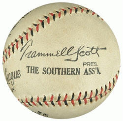 Southern Association Trammell Scott baseball