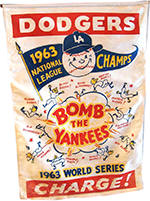 Dodgers 1963 World Series Bomb The Yankees Banner
