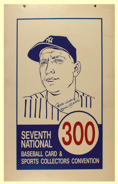 1986 Mickey Mantle 7th Annual National Sports Collectors Convention Aisle Marker sign