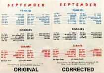 Original and Corrected 1953 schedule