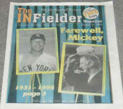 The Infielder Magazine with Mickey Mantle Cover
