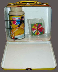 1968 MLB Luch Box inside with Thermos