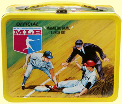 1968 MLB Magnetic game Lunch Box and Thermos