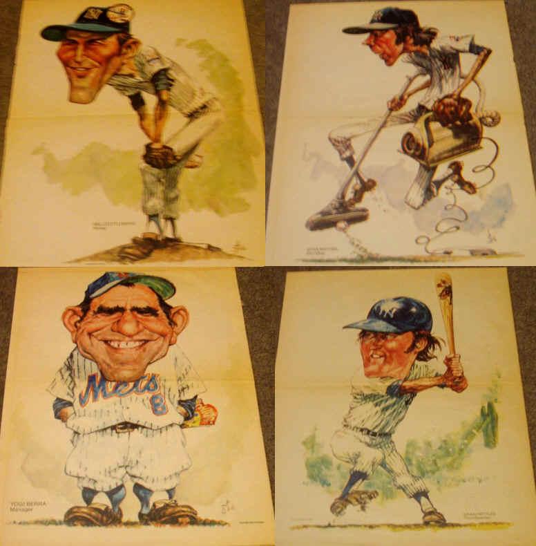 Vintage 1973 Daily News Yankees Mets by Stark