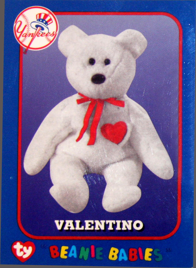 Ty Valentino NY Yankees Beanie Babies Day David Wells Perfect game 08cad13e863