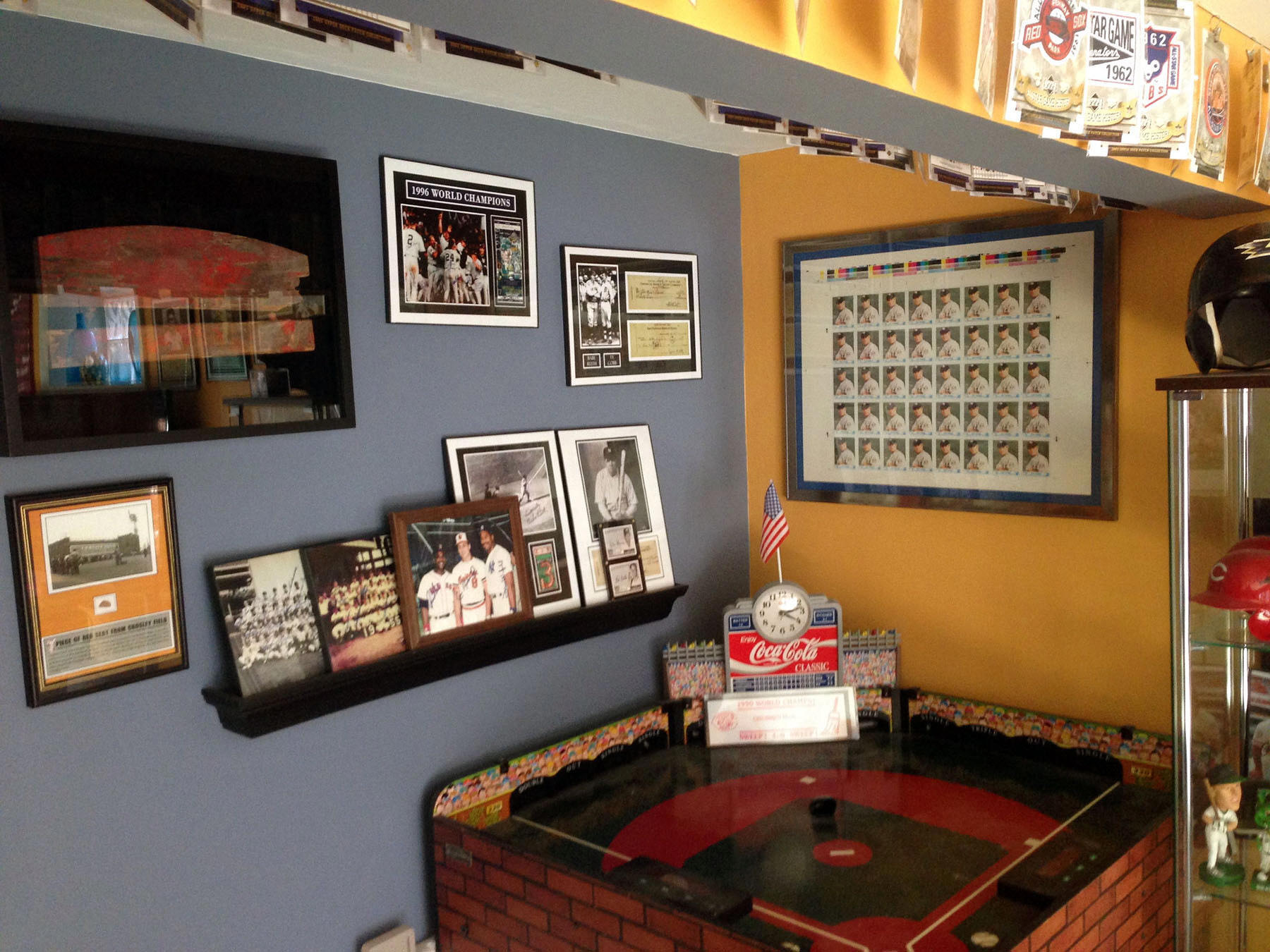 Baseball Memorabilia Display Room