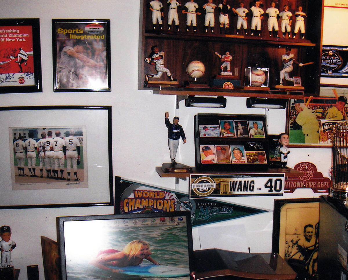 Baseball Memorabilia Collection Display Room Cards And Collectibles