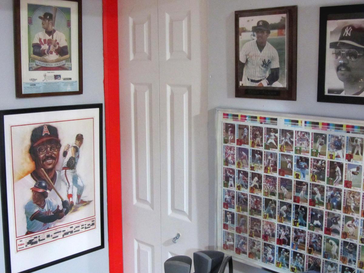 Reggie Jackson Baseball Memorabilia Collection Display Room