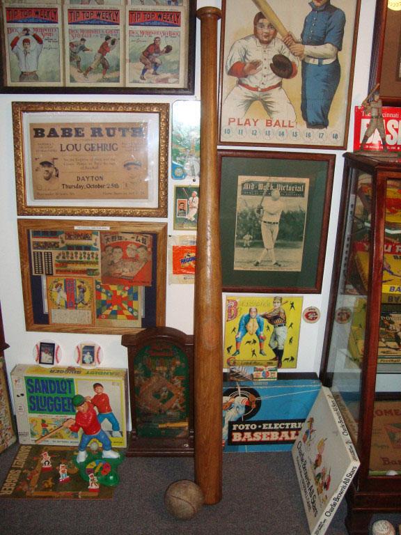 Vintage Baseball Games Display