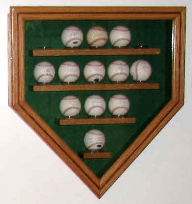 Autographed Baseball Display Case Collectors Showcase Memorabilia Room