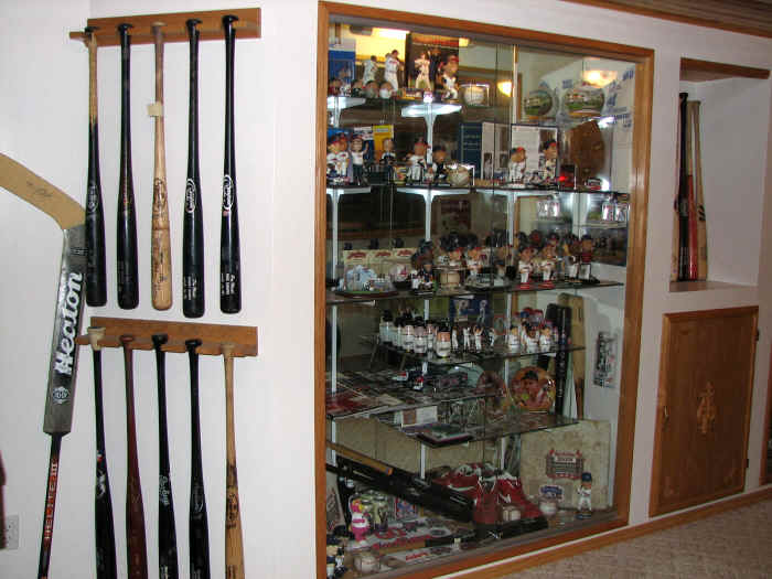 Collectors Showcase Baseball Memorabilia Room